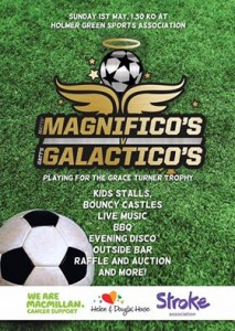Magnifico's v Galactico's charity football match poster